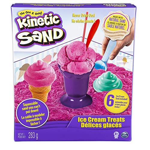 Kinetic Sand 6027986 - Kinetic Sand Eiscreme Set - Indoor Sandspiel - original Kinetic Sand aus Schweden