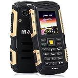 HAMSWAN 3G Telefóno Moviles Libre Sumergible 3G Anti-Golpes, Polvos y Aguas Soporte Cámara Bluetooth con Batería de 2570mAh que Trabaja 720 Horas (Oro)