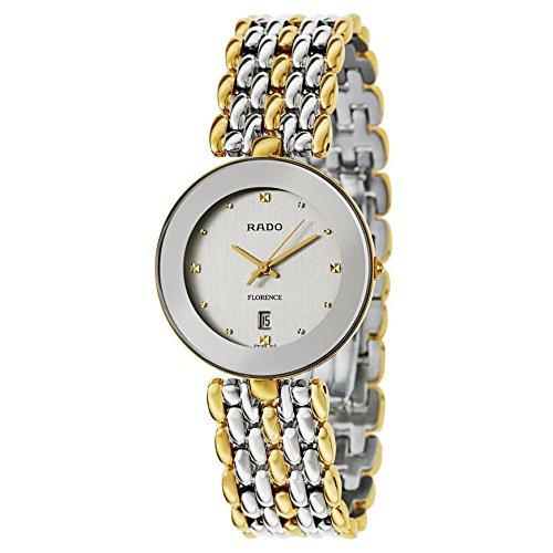 Rado hombre-reloj de pulsera bicolour Flourence multicolour de acero inoxidable con cristal de zafiro pilas R48743103