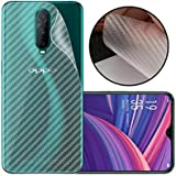 Case Creation Ultra Thin Slim Fit 3M Clear Transparent 3D Carbon Fiber Back Skin Rear Screen Guard Protector Sticker Protective Film Wrap Not Glass for Oppo R17 Pro (Carbonn)