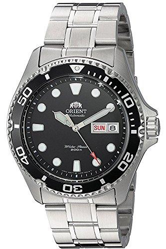 Orient Unisex Erwachsene Analog Automatik Uhr mit Edelstahl Armband FAA02004B9