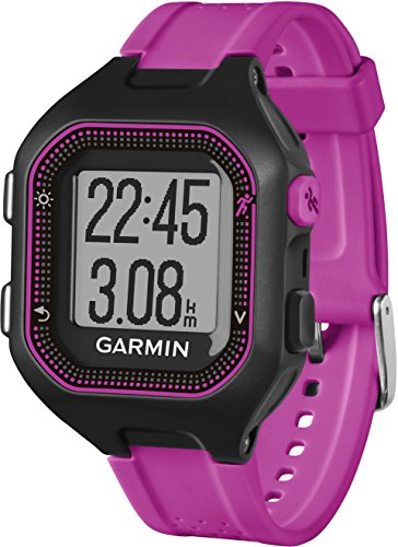 Garmin Forerunner 25 GPS Running Watch with Heart Rate Monitor – Small, Black/Purple