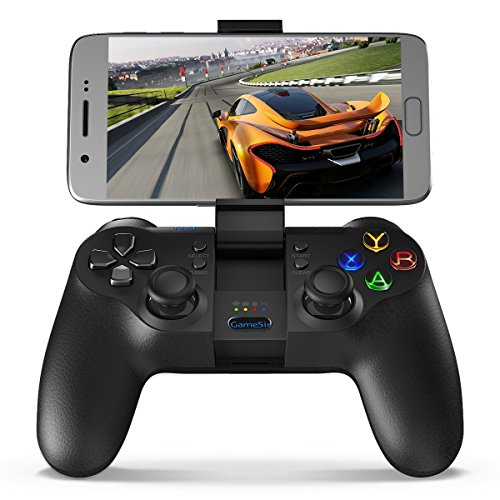 GameSir T1 Mando Inalámbrico de Bluetooth, Android Gamepad, USB PC Controlador con Cable para Juego, PS3 Controller