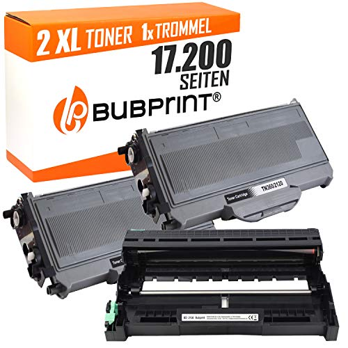 Bubprint 2 Toner compatibile per Brother TN-2120 (2.600 S NERO & DRUM DR-2100 DCP-7030 HL 2170