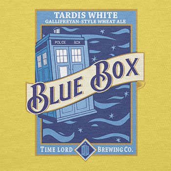 Texlab–Blue Box White Ale–sacchetto di stoffa Gelb