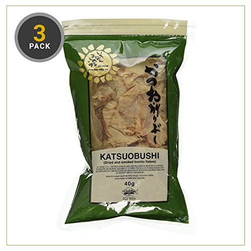 Katsuobushi (getrocknete und geräucherte Bonito-Flakes) 40g (3er Packung)