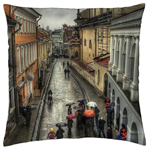 rain-on-street-in-old-vienna-austria-hdr-throw-pillow-cover-case-18-x-18