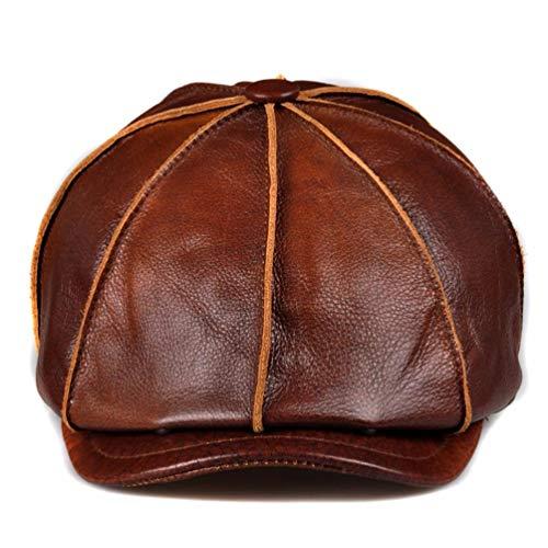 HAPPY-HAT Schön männer im Herbst und Winter die Cowboy - Hut, echtes Leder -, Damen - Gap, Gap und körper,XXL (60 cm),Brown (Womens Waterproof Winter Hüte)