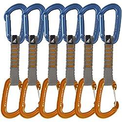 Fusion Climb contigua Alambre Puerta Ultra luz mosquetones (Pack de 6), Unisex, Contigua Wire Gate Ultra Light, Naranja/Azul, Talla única