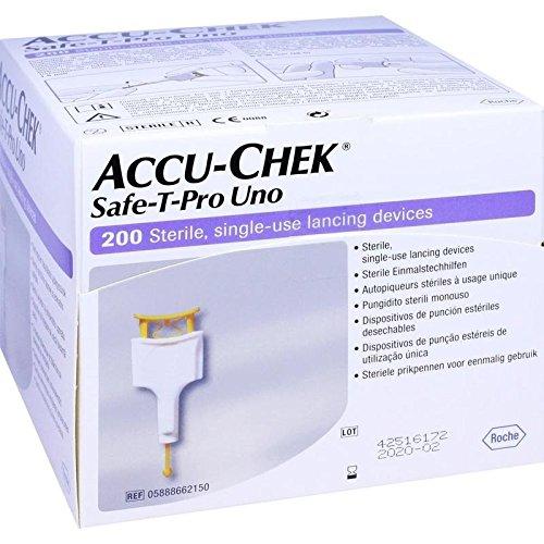 ACCU CHEK Safe T Pro Uno II Lanzetten 200 St Lanzetten