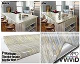 Gold Beige Marmor, Vinyl glänzend Architektonische Wrap für Home Office Möbel Tapete Tile Tabelle 6,5ft x 30,5cm Rolle, Vinyl, beige, 6.5 Feet x 15.9 Inch - 2 Roll Pack