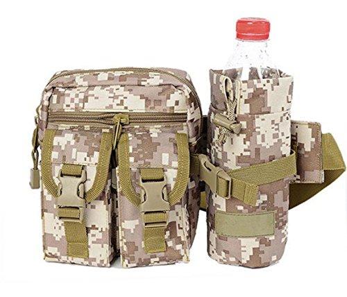 GOUQIN Outdoor Rucksack Klassische Mode Multifunktion Wasserdicht Im Freien Laufende Reiten Taschen Wasserkocher Taschen 2 Camouflage