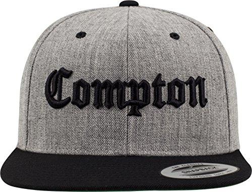 Mister Tee Mütze Compton Snapback, Heather Grey/Black, One Size, MT271-00591-0050 -