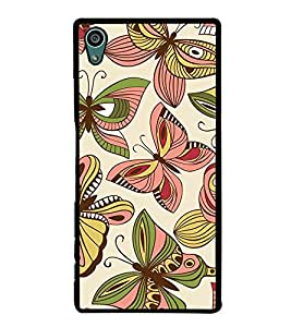 Butterflies Pattern 2D Hard Polycarbonate Designer Back Case Cover for Sony Xperia Z5 :: Sony Xperia Z5 Dual