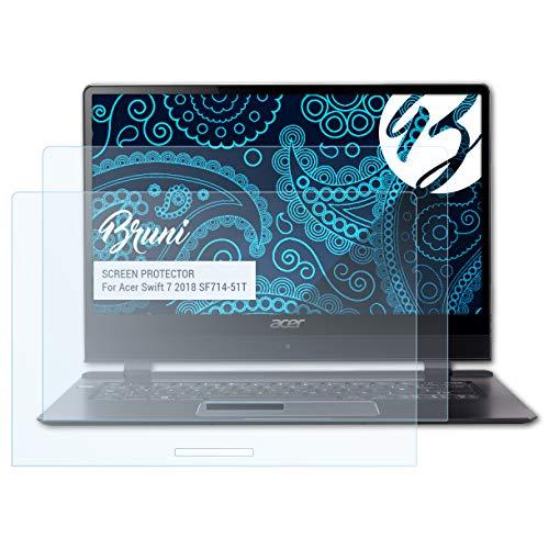 Bruni Schutzfolie für Acer Swift 7 2018 SF714-51T Folie, glasklare Displayschutzfolie (2X)