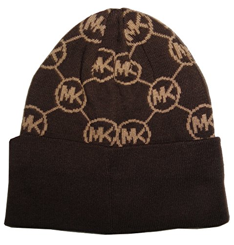 Michael Kors Dark Brown Signature Knit Beanie (Dark Brown)