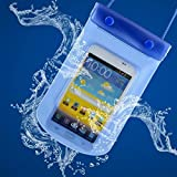 Tuzech SEALED Waterproof Pouch For all Smartphones (Blue)