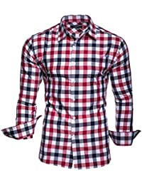 KAYHAN Homme Chemise Slim Fit Repassage facile, Manches Longues Modell - Doppelfarbig