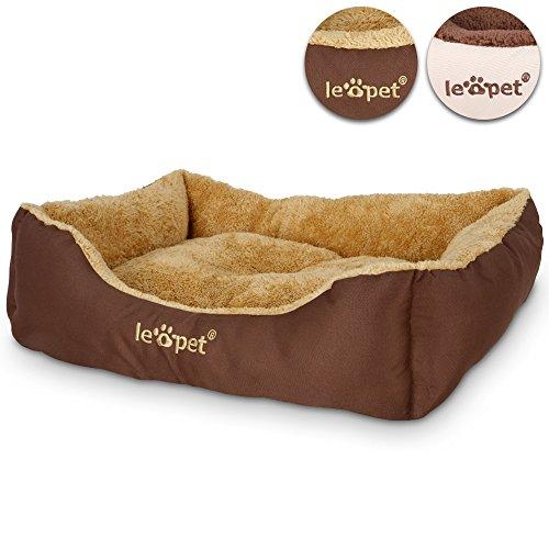 hundeinfo24.de Hundebett Hundekorb Hundekissen in 2 verschiedenen Farben und 4 verschiedenen Größen (S/M/L/XL)