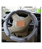 #6: NIKAVI Steering Wheel Cover - Odorless, Warmer Hands In Winter, Cooler Hands In Summer (GREY)