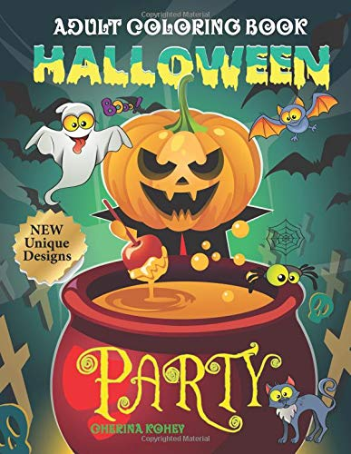 Halloween Party: Let's Halloween Night Party Begin. Super Fun with Witches, Black Cat, Spider, Ghost, Skeleton, Jack-O-Lantern, Haunted House, Devil, Owl, Bat, Vampire and More. ()