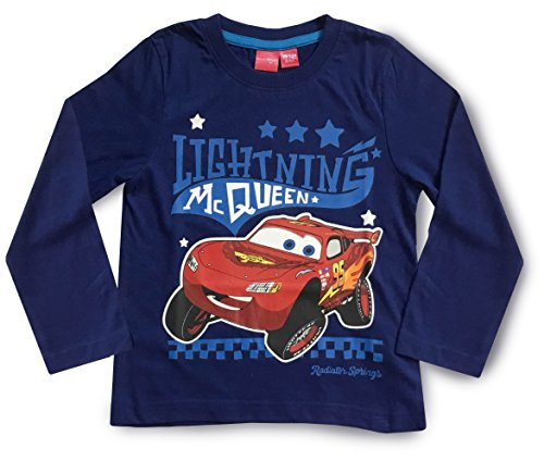 Image of Disney Cars Lightning McQueen Boys Short / Long Sleeved T Shirt - Ages 2 - 7 Years