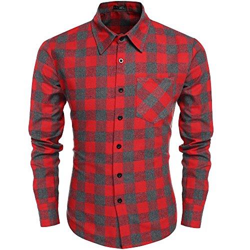 coofandy-mens-casual-plaid-long-sleeve-shirt-slim-fit-t-shirts-medium-2-gray-and-red