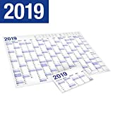 XXL Jahresplaner 2019 Wandkalender in Poster Größe. Gefaltet, gefalzt -...