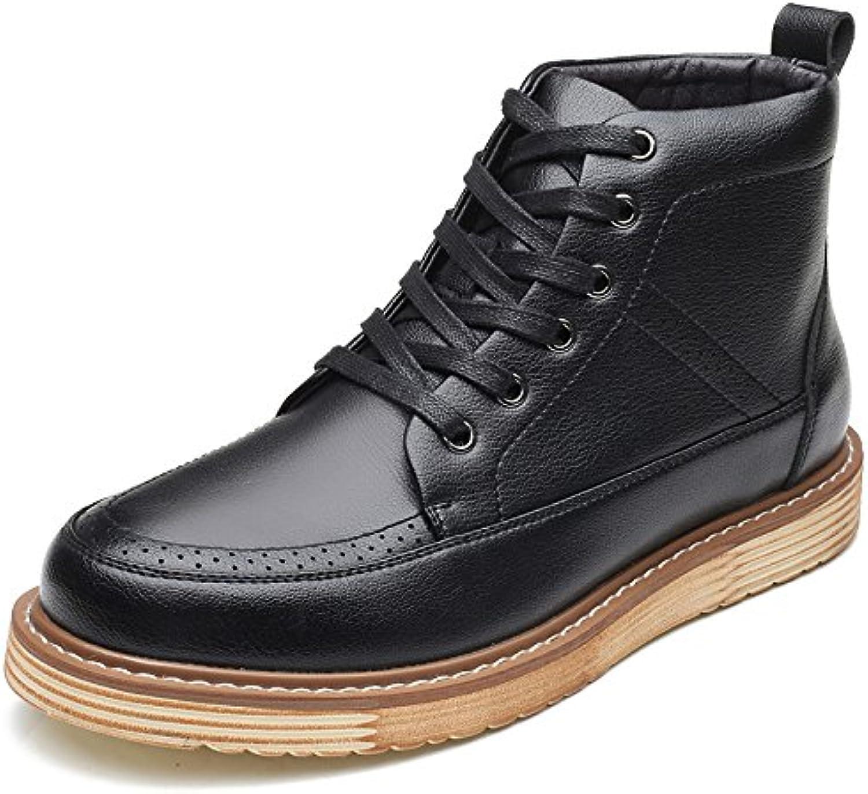 Koyi Herrenschuhe Fuumlr Den Winter Warme Mode Hoch  Um Den Trend Retro Martin Stiefel Britischen Männer Kurze Stiefel