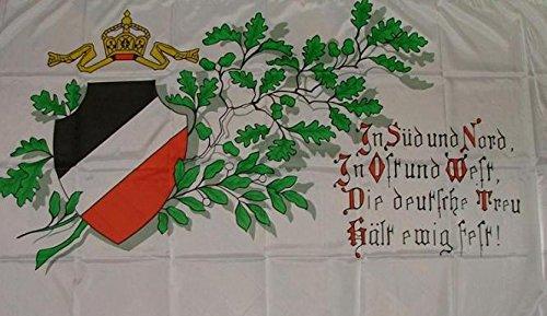 U24 Fahne Flagge Deutsches Reich Deutsche Treu 90 x 150 cm
