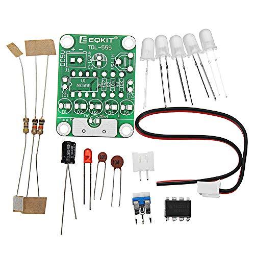 ROUHO 5Pcs DIY Dc 5V Tdl-555 Touch Delay Led Light Kit Insulation Materials & Elements DIY Led-Flash-Kit - Tdl-modul