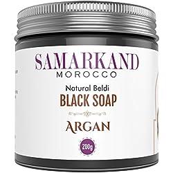 Jabón Negro Marroquí con Aceite de Argán Bio 100% Puro Natural Beldi para Hammam - El Original de Marruecos 200 mg