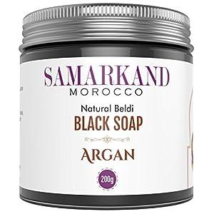 Jabón Negro Marroquí con Aceite de Argán Bio 100% Puro Natural Beldi para Hammam – El Original de Marruecos 200 gr