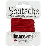 Beadsmith soutache Rayón Cordón (3mm Amplio) Rojo–3M