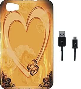 BKDT Marketing Printed Soft Back Cover Combo for Micromax Canvas Fire 4 A107 With Charging Cable