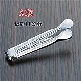 Xing Lin Pinza Per Spaghetti Clip In Acciaio Inox Clip Clip Forcipe Coffee Sugar Barbecue Alimentari Pane Clip Clip Clip Di Tipo Ghiaccio Barbecue Addensato,Un Clip Di Cibo