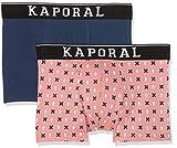 Kaporal QUAGO, Boxer Homme,Lot de 2, Multicolore (Rose), S