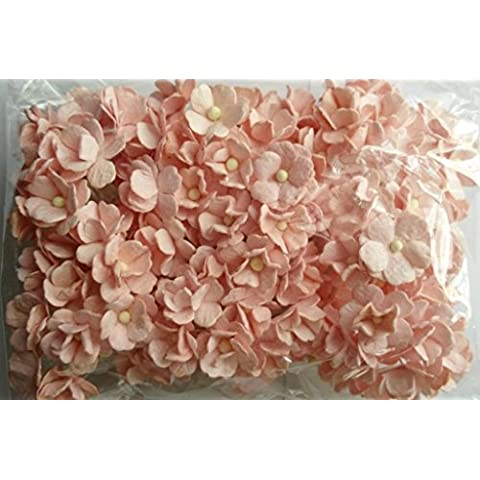 SOFT PINK 100 Mulberry carta 2 strato fiore Wedding Scrapbooking 2 cm