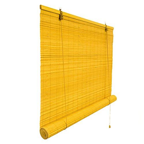 Bambusrollo 80 x 160 cm in natur - Fenster Sichtschutz Rollos - VICTORIA M