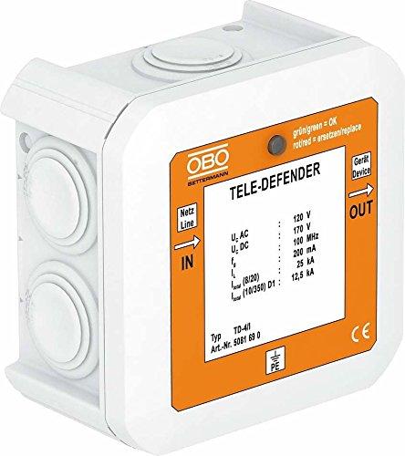 Preisvergleich Produktbild OBO Bettermann Vertr Überspannungsschutzgerät TD-4/I f. TK-Anlagen, weiß Überspannungsableiter für Informations-/MSR-Technik 4012196034352
