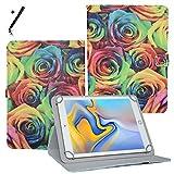 Tablet Hülle 10.1 Zoll für Blaupunkt Endeavour 101G Schutzhülle Etui Case mit Touch Pen und Standfunktion - Rosen 2