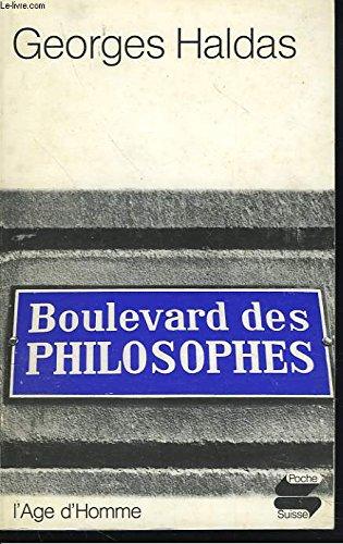 Boulevard des philosophes. chronique.
