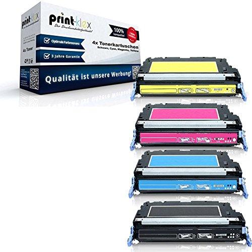 Print-Klex 4x Kompatible Premium XXL Toner für HP Color LaserJet 4600 ColorLaserJet 4600DN 4600DTN 4600HDN 4600N 4610 4610N 4650 4650DN 4650DTN 4650HDN 4650N - Sparset ( alle 4 Farben )