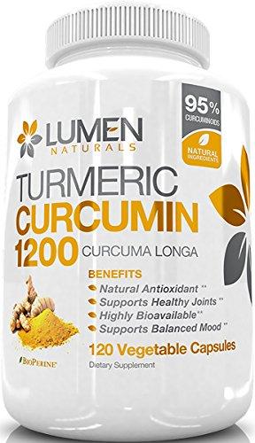 Curcuma Curcumina 1200mg con 95% Curcuminioidi e...