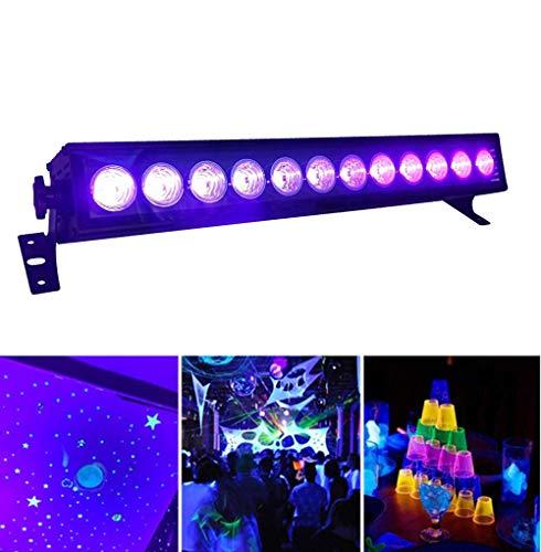 UV LED Beleuchtung, 36W 12LEDs UV LED Schwarzlicht Party Licht Lampe Strahler UV Lampe Bühnenscheinwerfer Partylicht Effektlicht für Club Party...