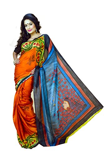 VINTAGE Girls cotton saree(VINTAGE O11_multi colour_Freesize)