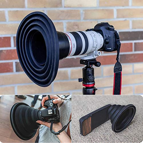 TAOtTAO Hand Drill Bits The Ultimate Lens Hood Take Reflection-Free Photos Videos for Photographers (B)