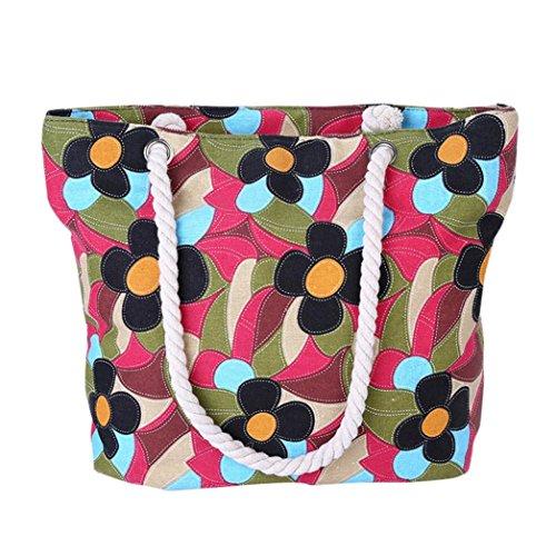 Transer Women Shoulder Bag Popular Girls Hand Bag Ladies Canvas Handbag, Borsa a spalla donna 45cm(L)*32(H)*10cm(W), Multicolour (multicolore) - ZHY60901992 Multicolour