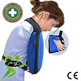 Écharpe d'immobilisation d'épaule de bras (Enfant:9-12ans, BLEU)✔ Poche de bras est grande profonde ✔ CONFORT DE REFROIDISSEMENT TRES BIEN | Unisexe.