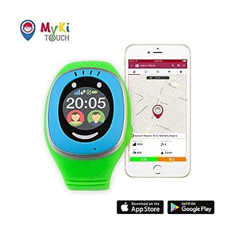 MyKi GPS Uhr Kinder, Smartwatch mit GPS Tracker, Handy Ortung, SOS und App Tracking in Deutsch (Gps Tracker Für Kinder)